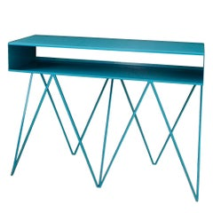 Robot Too Tall Steel Sideboard Console Table in Turquoise