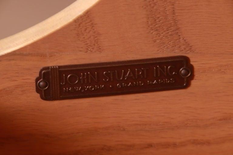 Robsjohn-Gibbings for Widdicomb Black Lacquered Gentleman's Chest, Refinished For Sale 10