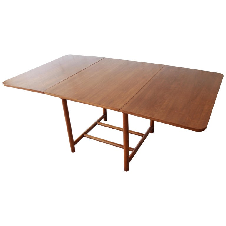 Wood Dining Table For Sale: Robsjohn Gibbings For Widdicomb Cherry Wood Drop-Leaf