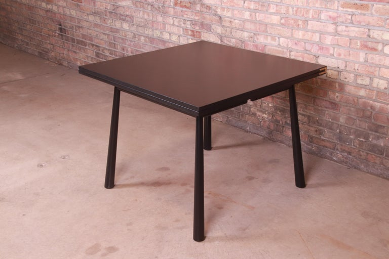 Robsjohn-Gibbings for Widdicomb Flip Top Dining or Game Table, Newly Refinished For Sale 3