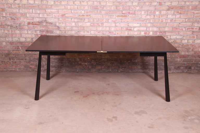 Mid-Century Modern Robsjohn-Gibbings for Widdicomb Flip Top Dining or Game Table, Newly Refinished For Sale