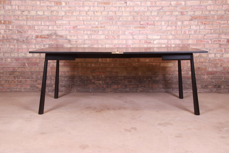American Robsjohn-Gibbings for Widdicomb Flip Top Dining or Game Table, Newly Refinished For Sale