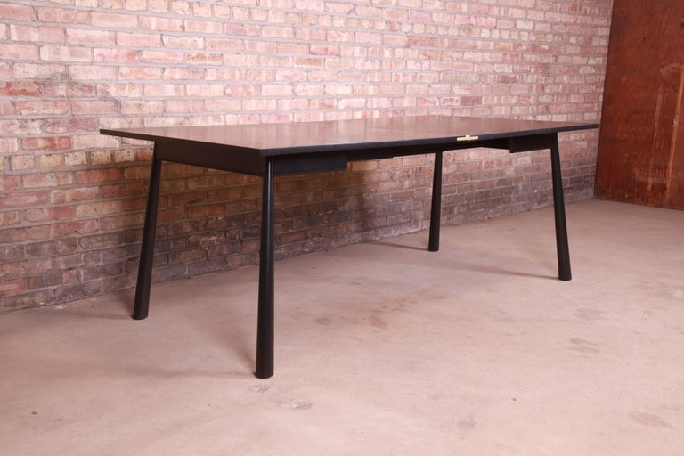 Mid-20th Century Robsjohn-Gibbings for Widdicomb Flip Top Dining or Game Table, Newly Refinished For Sale
