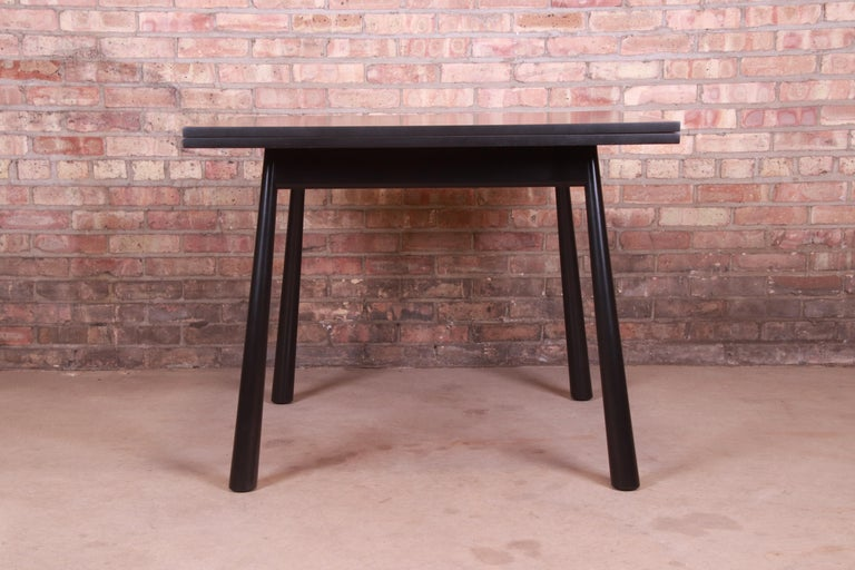 Robsjohn-Gibbings for Widdicomb Flip Top Dining or Game Table, Newly Refinished For Sale 1