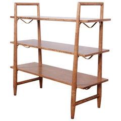 Robsjohn-Gibbings for Widdicomb Mid-Century Modern Maple and Brass Bookcase