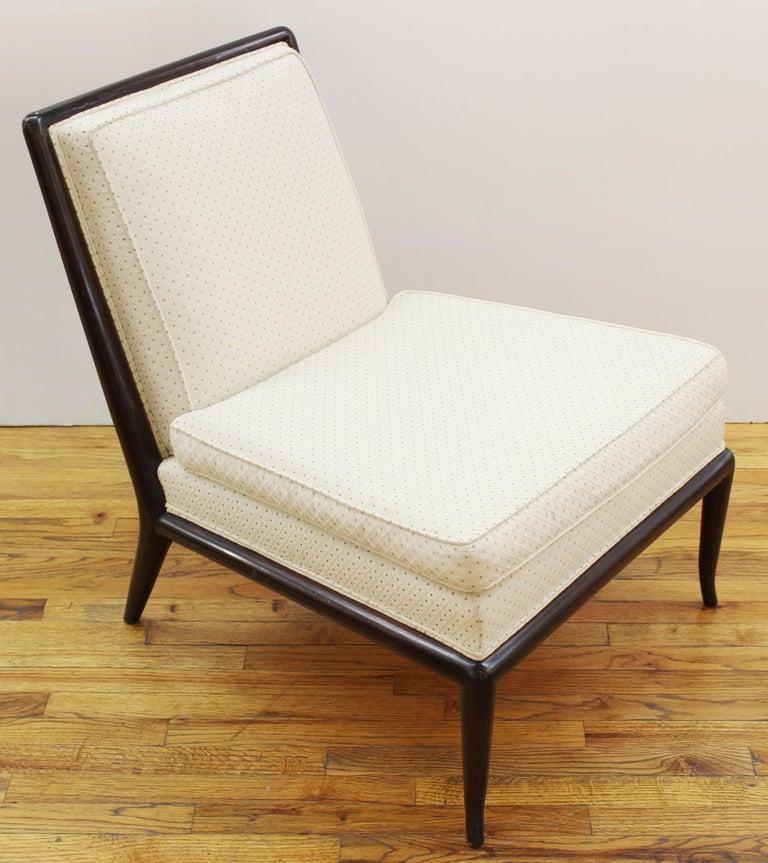 American Robsjohn-Gibbings for Widdicomb Mid-Century Modern Slipper Chairs For Sale