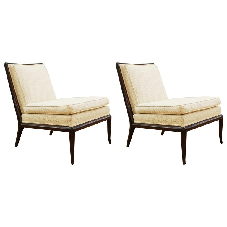 Robsjohn-Gibbings for Widdicomb Mid-Century Modern Slipper Chairs For Sale