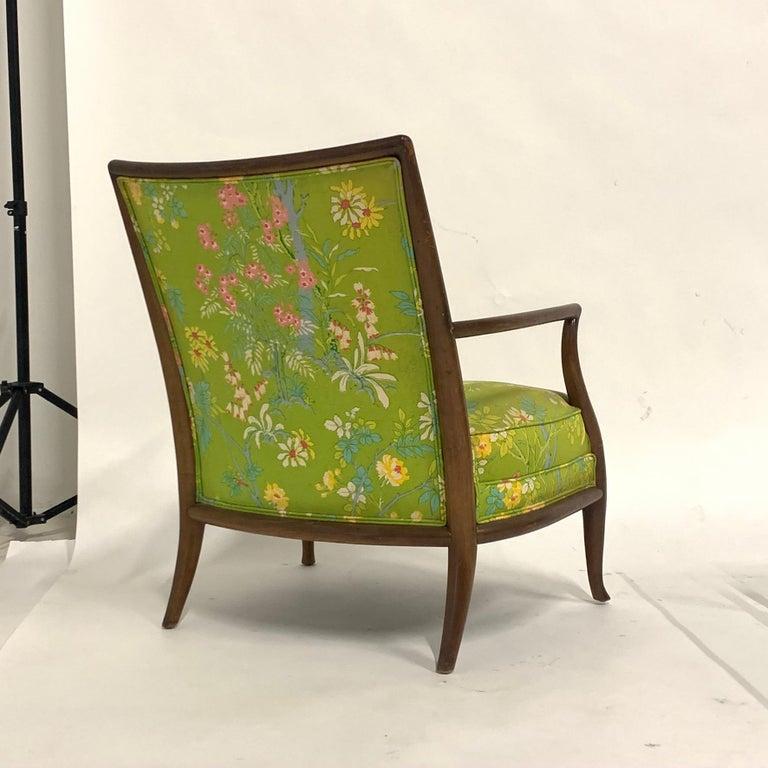 Robsjohn Gibbings for Widdicomb Model 2024 Lounge Chair w. Whimsical Upholstery For Sale 6
