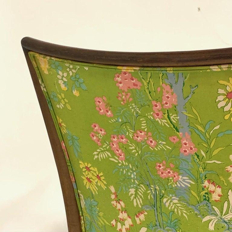 Robsjohn Gibbings for Widdicomb Model 2024 Lounge Chair w. Whimsical Upholstery For Sale 7