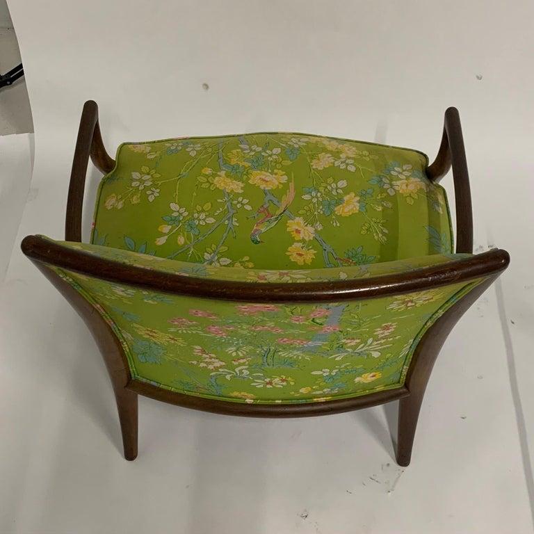 Robsjohn Gibbings for Widdicomb Model 2024 Lounge Chair w. Whimsical Upholstery For Sale 8