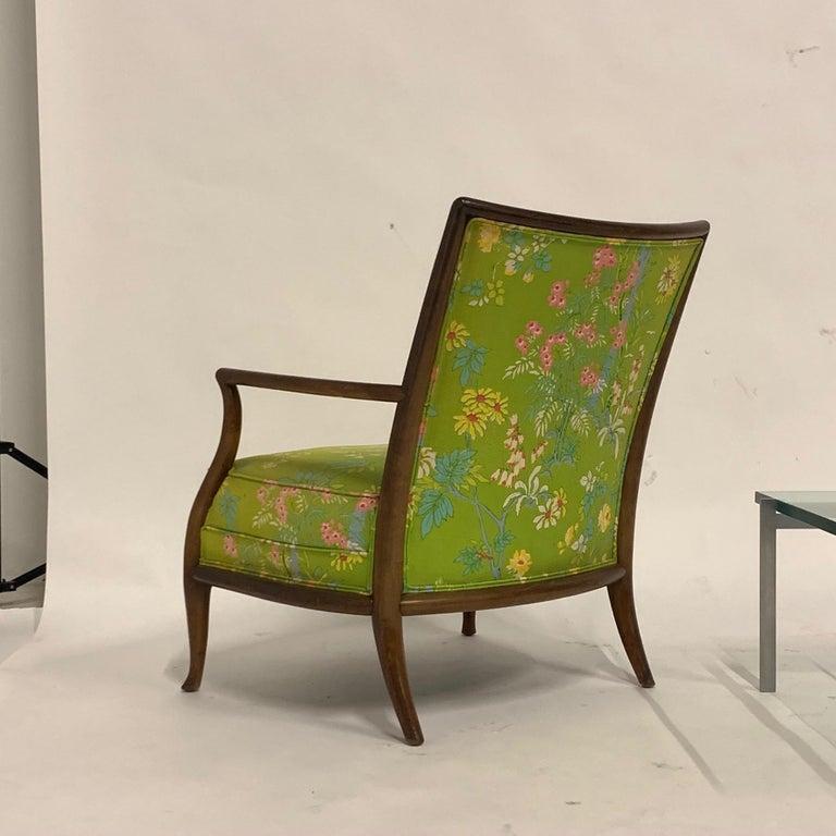 Robsjohn Gibbings for Widdicomb Model 2024 Lounge Chair w. Whimsical Upholstery For Sale 10