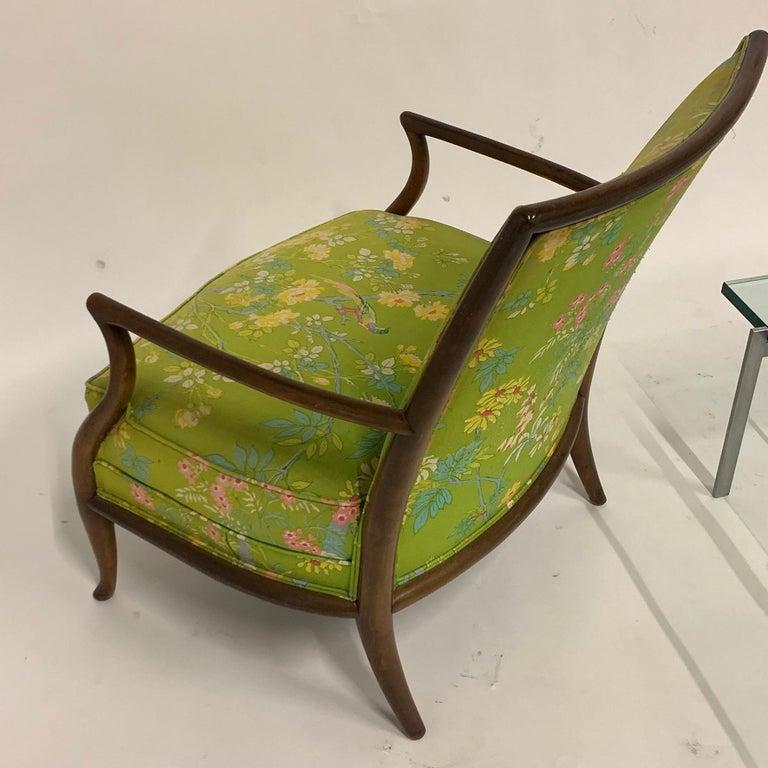 Robsjohn Gibbings for Widdicomb Model 2024 Lounge Chair w. Whimsical Upholstery For Sale 11