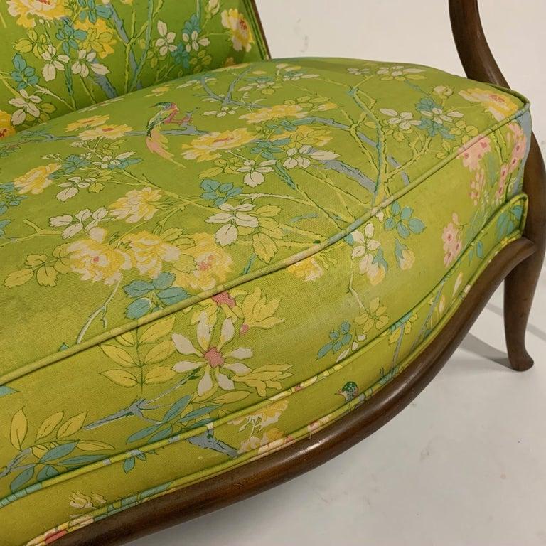 Mid-Century Modern Robsjohn Gibbings for Widdicomb Model 2024 Lounge Chair w. Whimsical Upholstery For Sale