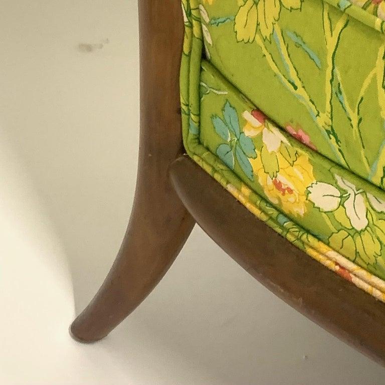 American Robsjohn Gibbings for Widdicomb Model 2024 Lounge Chair w. Whimsical Upholstery For Sale