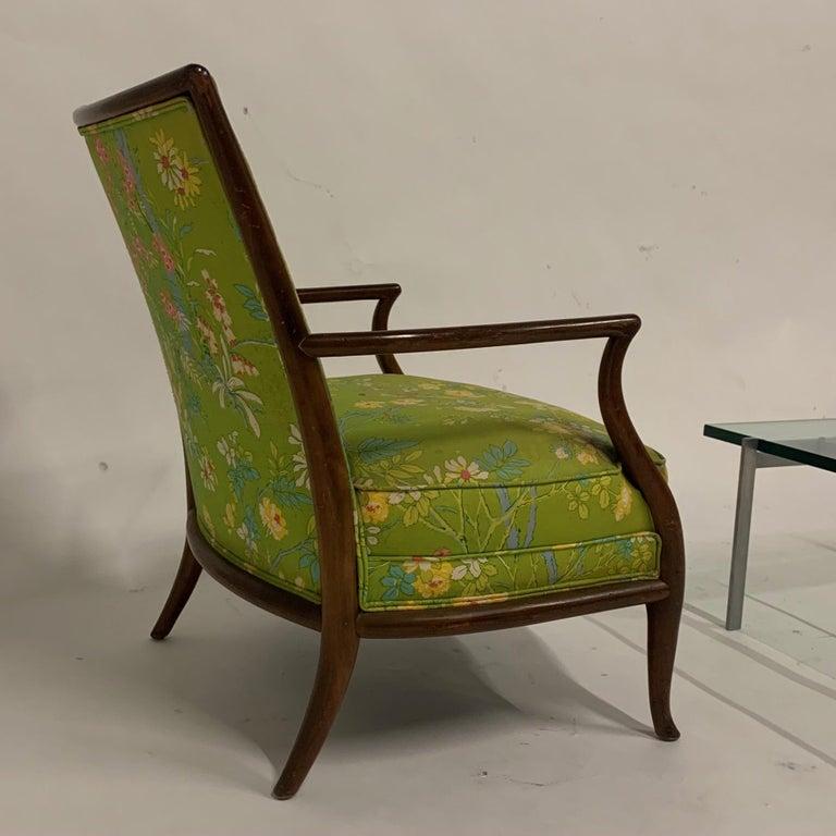20th Century Robsjohn Gibbings for Widdicomb Model 2024 Lounge Chair w. Whimsical Upholstery For Sale