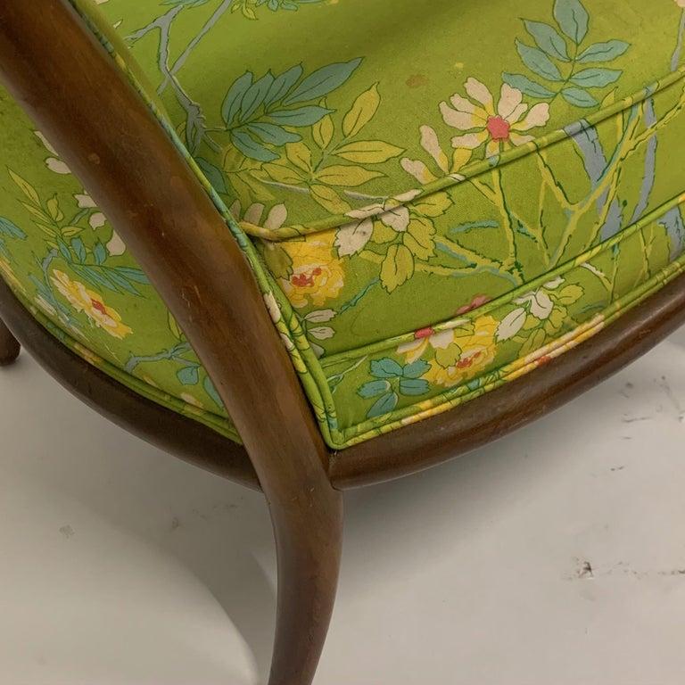 Robsjohn Gibbings for Widdicomb Model 2024 Lounge Chair w. Whimsical Upholstery For Sale 1