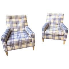 Robsjohn Gibbings for Widdicomb Pair of deep Lounge Chairs