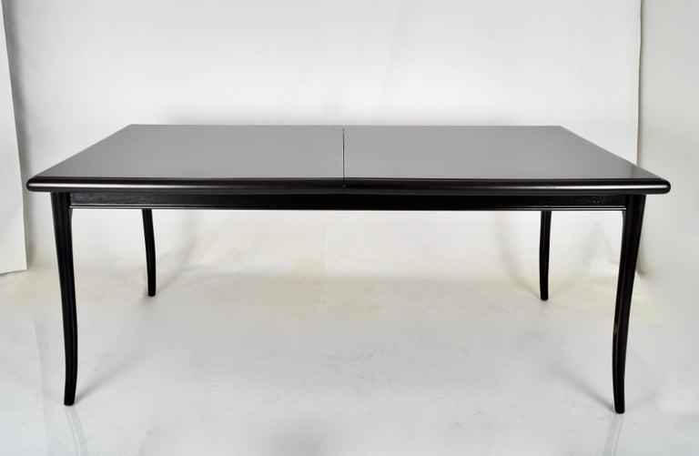 Mid-Century Modern Robsjohn-Gibbings for Widdicomb Sabre Leg Dining Table, USA, 1950s For Sale