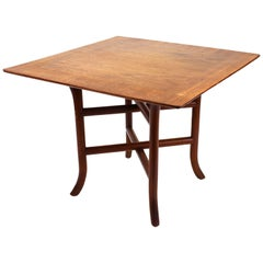 Robsjohn-Gibbings for Widdicomb Side Table with Square Top and Crossed Trestle