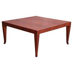 Robsjohn-Gibbings for Widdicomb Walnut Saber Leg Cocktail Table, Newly Restored