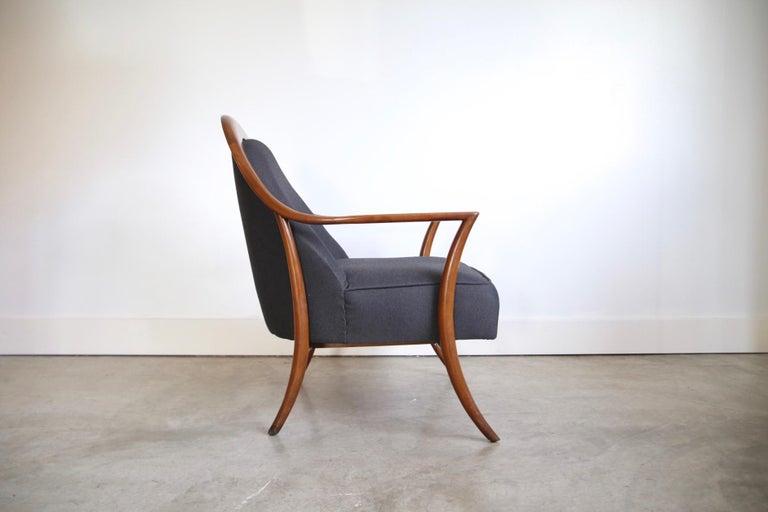 Wood Robsjohn-Gibbings Lounge Chair for Widdicomb For Sale