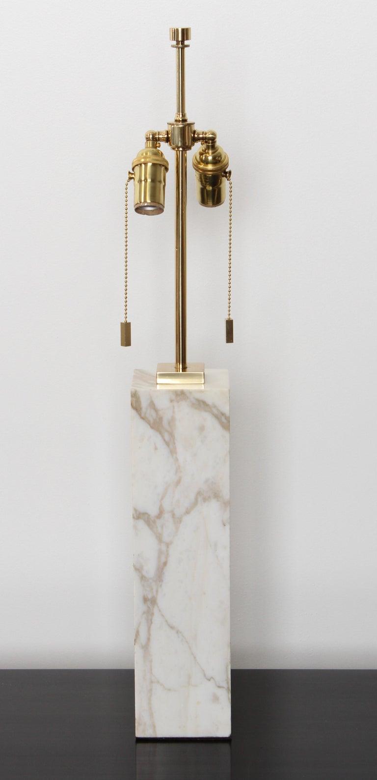 Mid-Century Modern Robsjohn Gibbings Marble Table Lamp by Hansen Lighting, 1950s For Sale