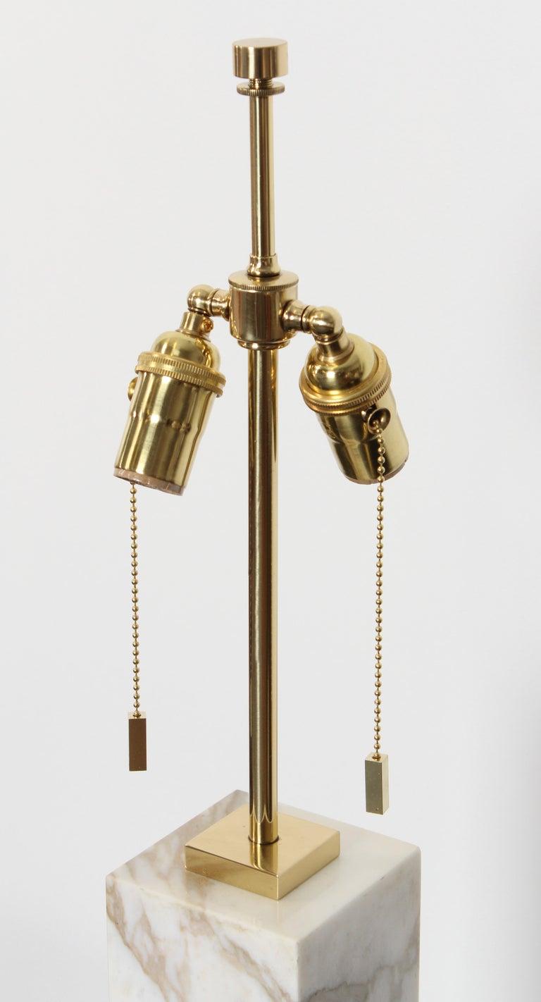 Robsjohn Gibbings Marble Table Lamp by Hansen Lighting, 1950s In Good Condition For Sale In Hamburg, PA