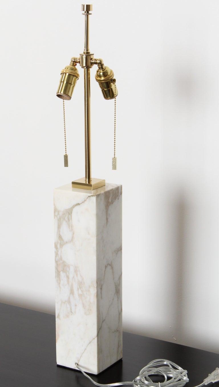 Mid-20th Century Robsjohn Gibbings Marble Table Lamp by Hansen Lighting, 1950s For Sale