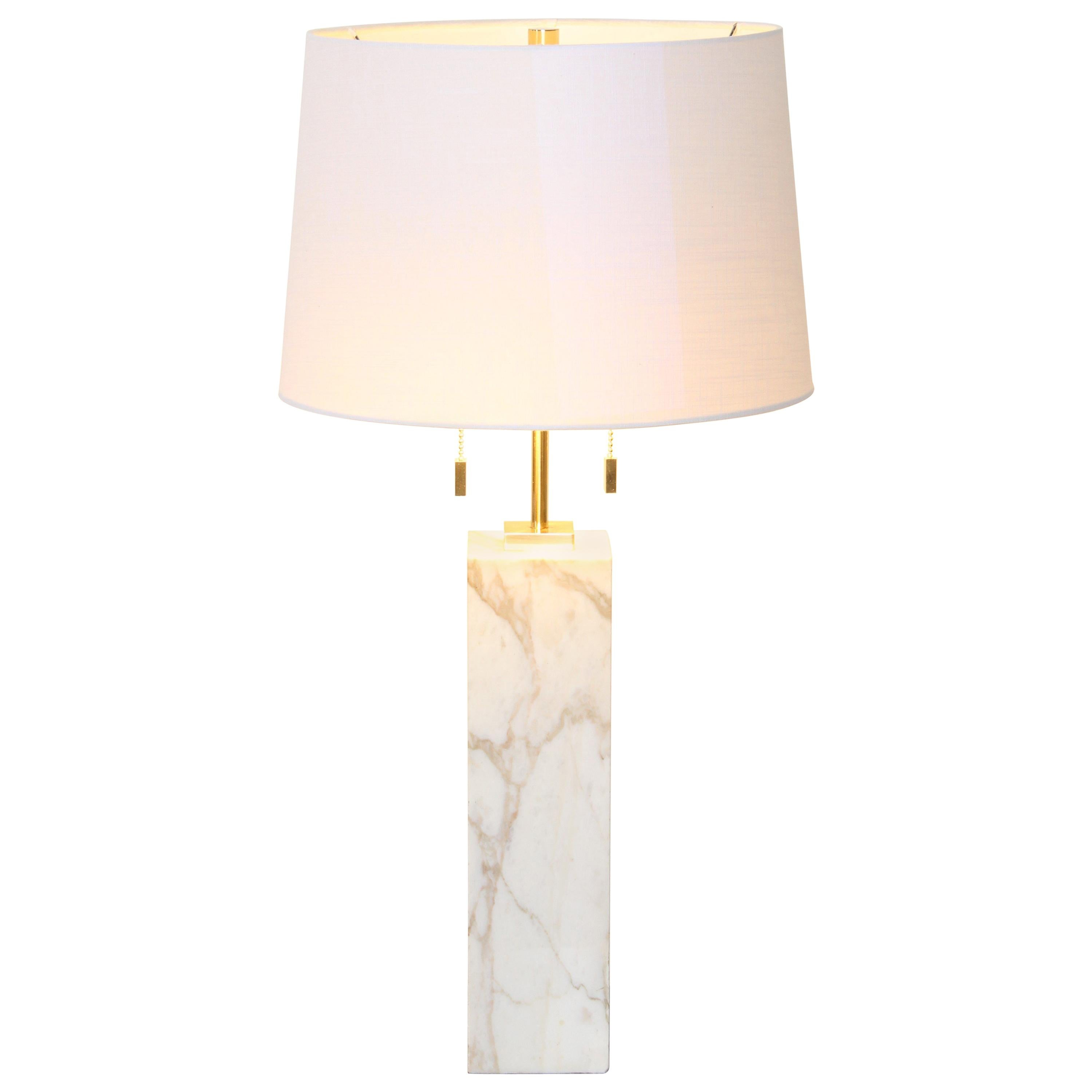 Robsjohn Gibbings Marble Table Lamp by Hansen Lighting, 1950s