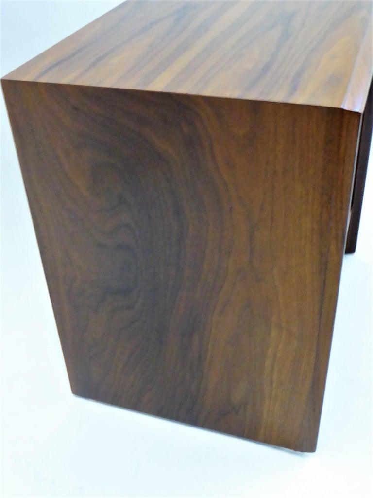 Robsjohn-Gibbings Single Drawer Black Walnut Night Table for Widdicomb For Sale 4