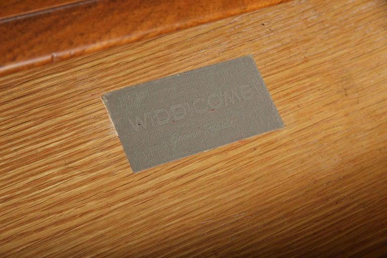 Robsjohn-Gibbings Single Drawer Black Walnut Night Table for Widdicomb For Sale 5