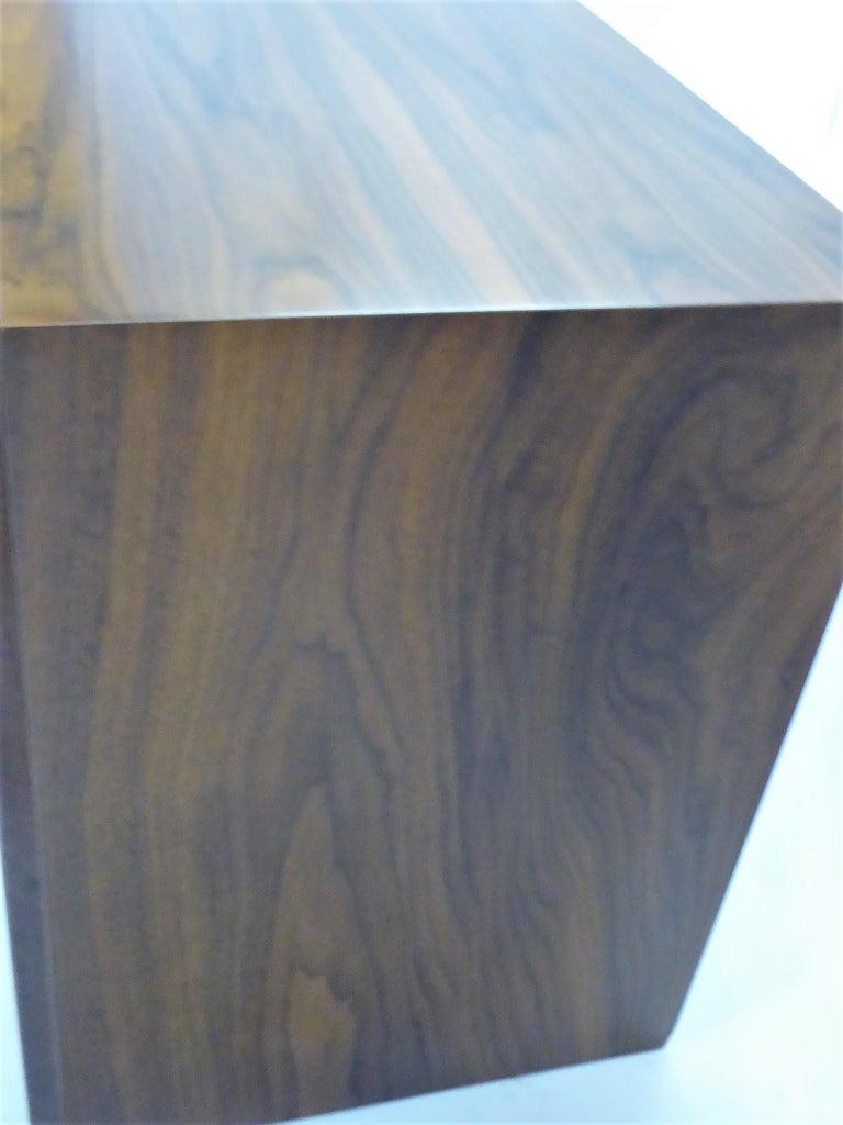 Robsjohn-Gibbings Single Drawer Black Walnut Night Table for Widdicomb For Sale 8