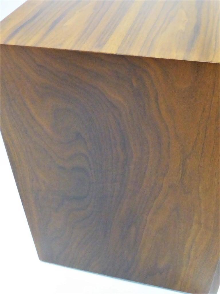 Robsjohn-Gibbings Single Drawer Black Walnut Night Table for Widdicomb For Sale 9