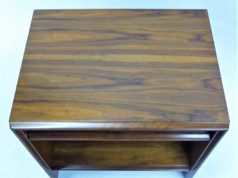 Mid-20th Century Robsjohn-Gibbings Single Drawer Black Walnut Night Table for Widdicomb For Sale