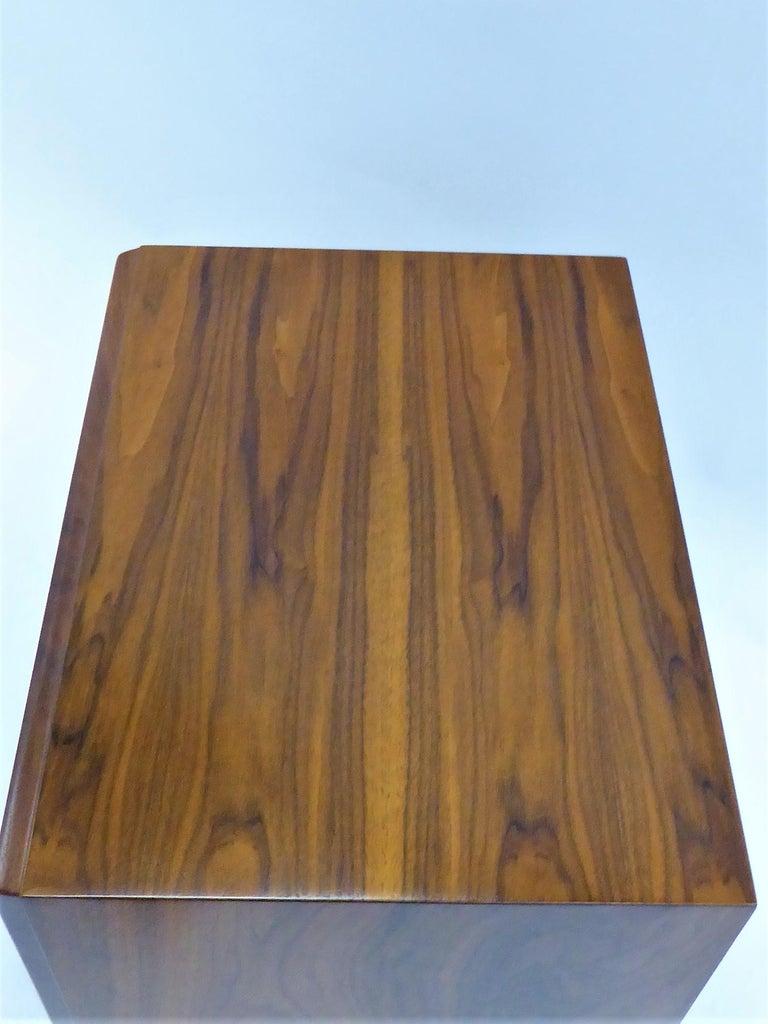 Robsjohn-Gibbings Single Drawer Black Walnut Night Table for Widdicomb For Sale 1