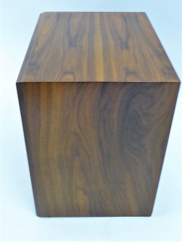 Robsjohn-Gibbings Single Drawer Black Walnut Night Table for Widdicomb For Sale 2