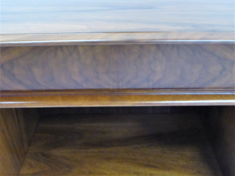 Robsjohn-Gibbings Single Drawer Black Walnut Night Table for Widdicomb For Sale 3