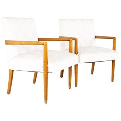 Robsjohn Gibbings Style Mid Century Occasional Lounge Chairs, a Pair