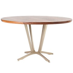 Robson Dining Table, American Hardwood and Steel