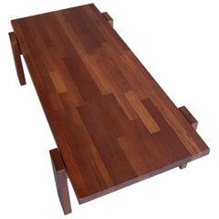 Robust Hardwood Coffee Table in Style of Jorge Zalszupin, Brazil, 1960s