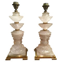"""Rocca"" Crystal and Brass Table Lamp, Handmade in Italy by an Artisan"