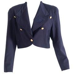 Rocco Barocco Jeans Women's Blue Navy Short Jacket, Oversized Fit