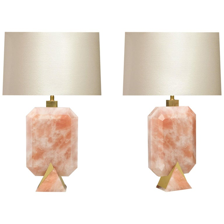 Rocco Rock Crystal Lamps by Phoenix For Sale