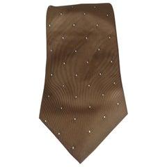 Roccobarocco brown multicoloured silk tie