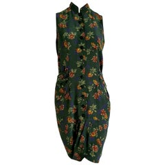 """ROCCOBAROCCO """"New"""" Haute Couture Flowers Theme Ribbons Silk Dress - Unworn"""