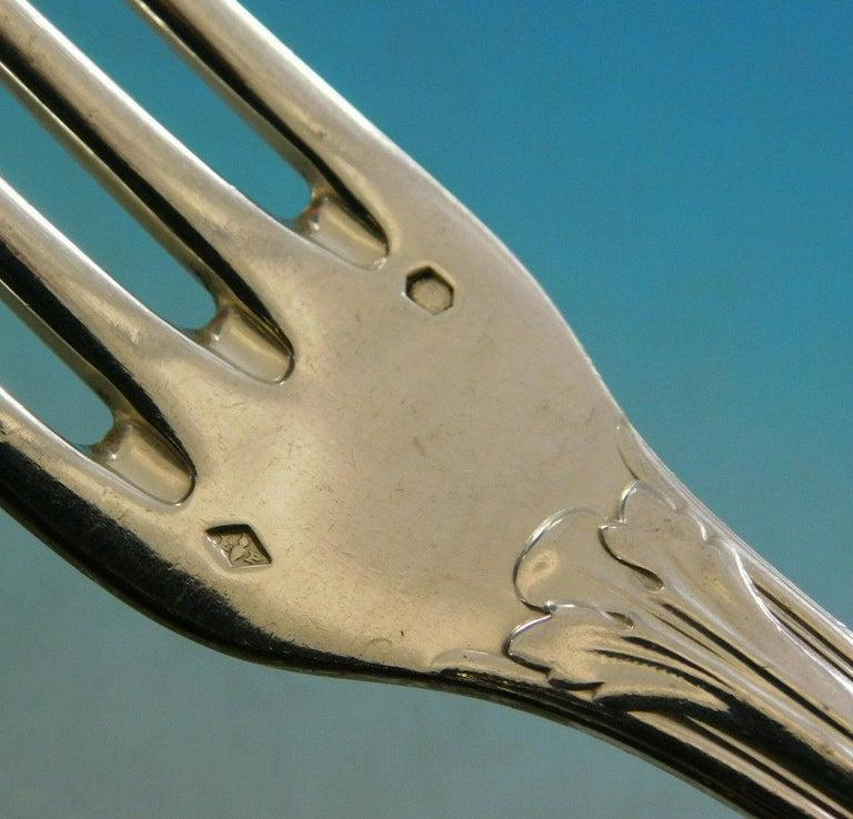 20th Century Rochambeau by Puiforcat France 950 Silver Flatware Set Service Dinner 159 Pc For Sale