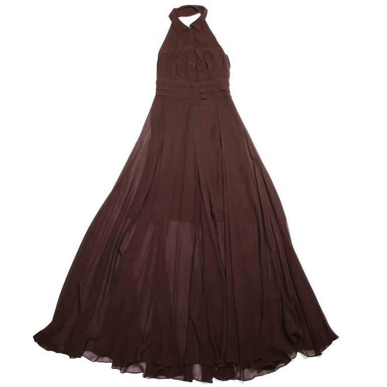 ROCHAS Backless Brown Dress