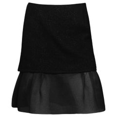 Rochas Black Boucle Skirt w/ Tulle Bottom