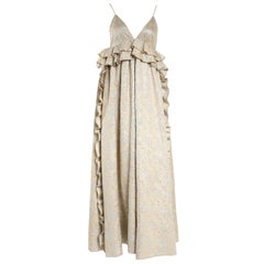 Rochas Nude Embossed Gown