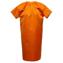 Rochas Orange Short Sleeve Dress
